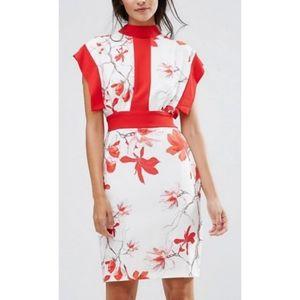 Closet London Printed Midi Dress